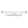 "Isabella Collection 38"" Large U-Shaped Wall Mount Double Basin with Chrome Overflows"