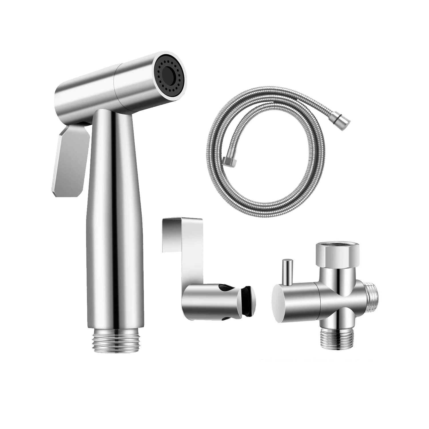 Spahaus – Stainless Steel Handheld Bidet Sprayer Set