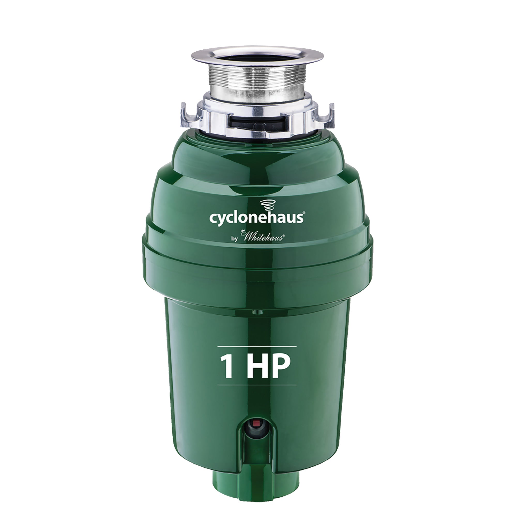 Cyclonehaus High Efficiency Garbage Disposal with Solid Brass Flange and Quiet Operation