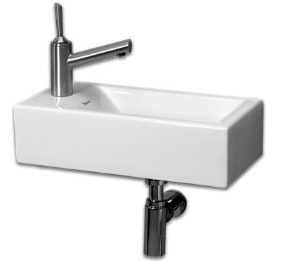 "Isabella Collection 19"" Small Wall Mount Basin with Center Drain"