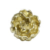 Solid brass rosette-shaped knob.