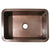 "Copperhaus 30"" Rectangular Undermount Sink with a Smooth Texture and 3 ½"" Center Drain"