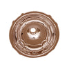 "14"" Decorative round fluted design drop-in bath basin with overflow"