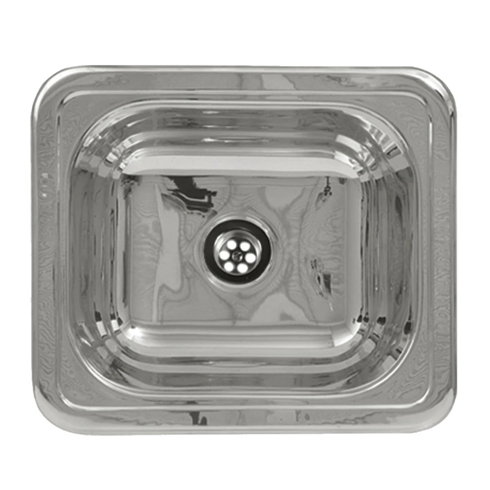 "14"" Rectangular drop-in entertainment/prep sink with a smooth surface"