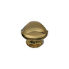Triangular-shaped knob made of solid brass.