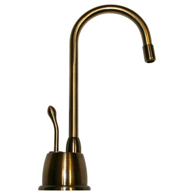 Point of Use Instant Hot Water Faucet with Gooseneck Spout and Self Closing Handle