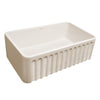 "Reversible Series 30"" Fireclay kitchen sink with Gothichaus design"