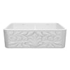 "Reversible Series 33"" double bowl Fireclay kitchen sink with Gothichaus Design"