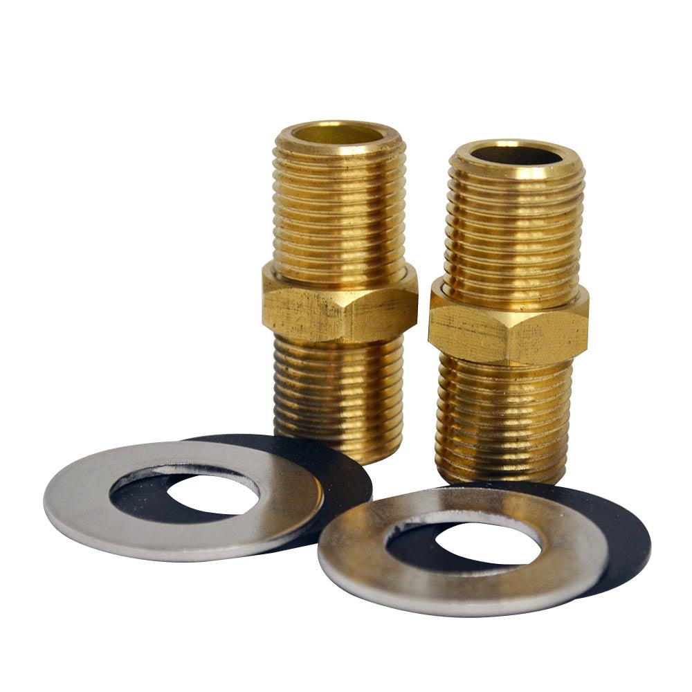 "2"" Brass Nipple for Whitehaus Utility Faucet Installation"