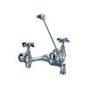 Heavy Duty wall mount service sink faucet with support bracket and cross handles