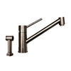 FX Navigator Stainless Steel Single Extended Lever Handle Faucet with Matching Solid Stainless Steel Side Spray