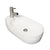 "Isabella Collection 24"" Oval Above Mount Basin with Integrated Oval Bowl and a Center Drain"