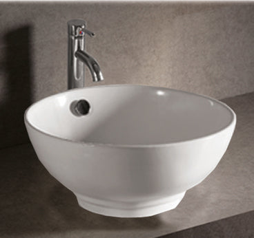 "Isabella Collection 17"" Collection Round Above Mount Basin with Overflow and Center Drain"