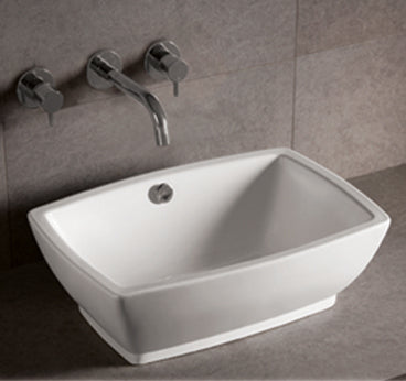 "Isabella Collection 21"" Rectangular Above Mount Basin with Overflow and Center Drain"