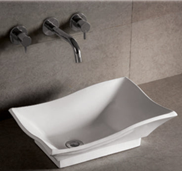 "Isabella Collection 20"" Rectangular Above Mount Basin with Offset Center Drain"