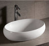 "Isabella Collection 23"" Oval Above Mount Basin with a Center Drain"