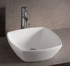 "Isabella Collection 16"" Square Above Mount Basin with a Center Drain"