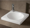 "Isabella Collection 18"" Square Drop In Basin with an Integrated Round Bowl, Single Faucet Hole and Center Drain"