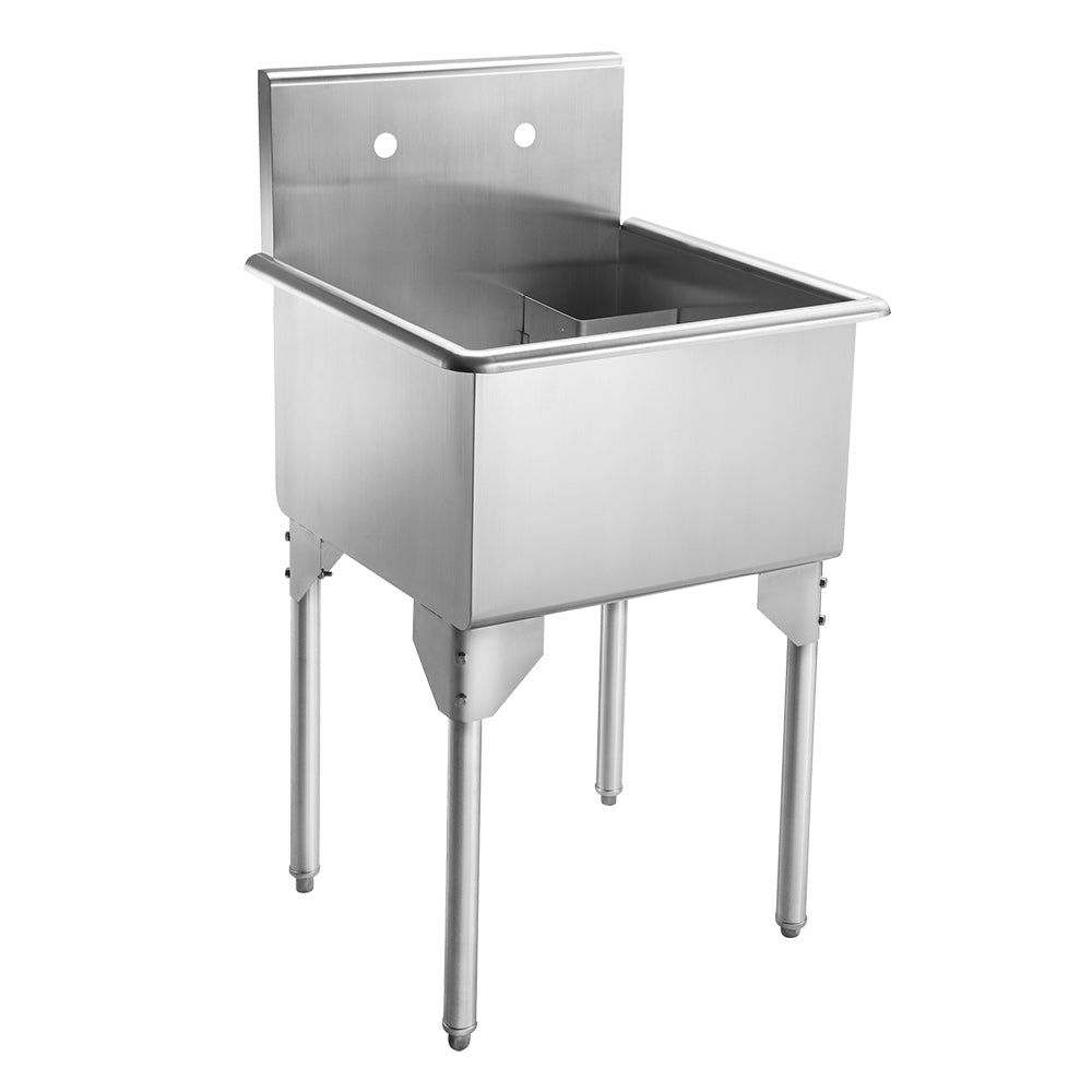 "23"" Pearlhaus Stainless steel small square, single bowl freestanding utility sink"