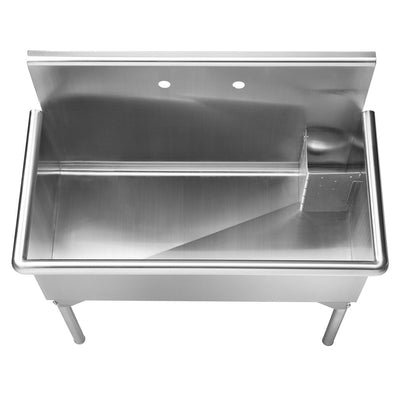 "39"" Pearlhaus Stainless steel  large, single bowl freestanding utility sink"