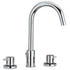 Luxe Widespread Lavatory Faucet with Tall Gooseneck Swivel Spout and Pop-up Waste