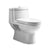 Magic Flush Eco-Friendly One Piece Toilet with a Siphonic Action Dual Flush System, Elongated Bowl 1.6/1.1 GPF