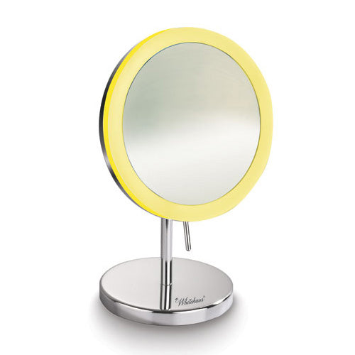 Round Freestanding Led 5X Magnified Mirror