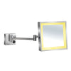 Square Wall Mount Led 5X Magnified Mirror