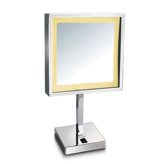 Square Freestanding Led 5X Magnified Mirror