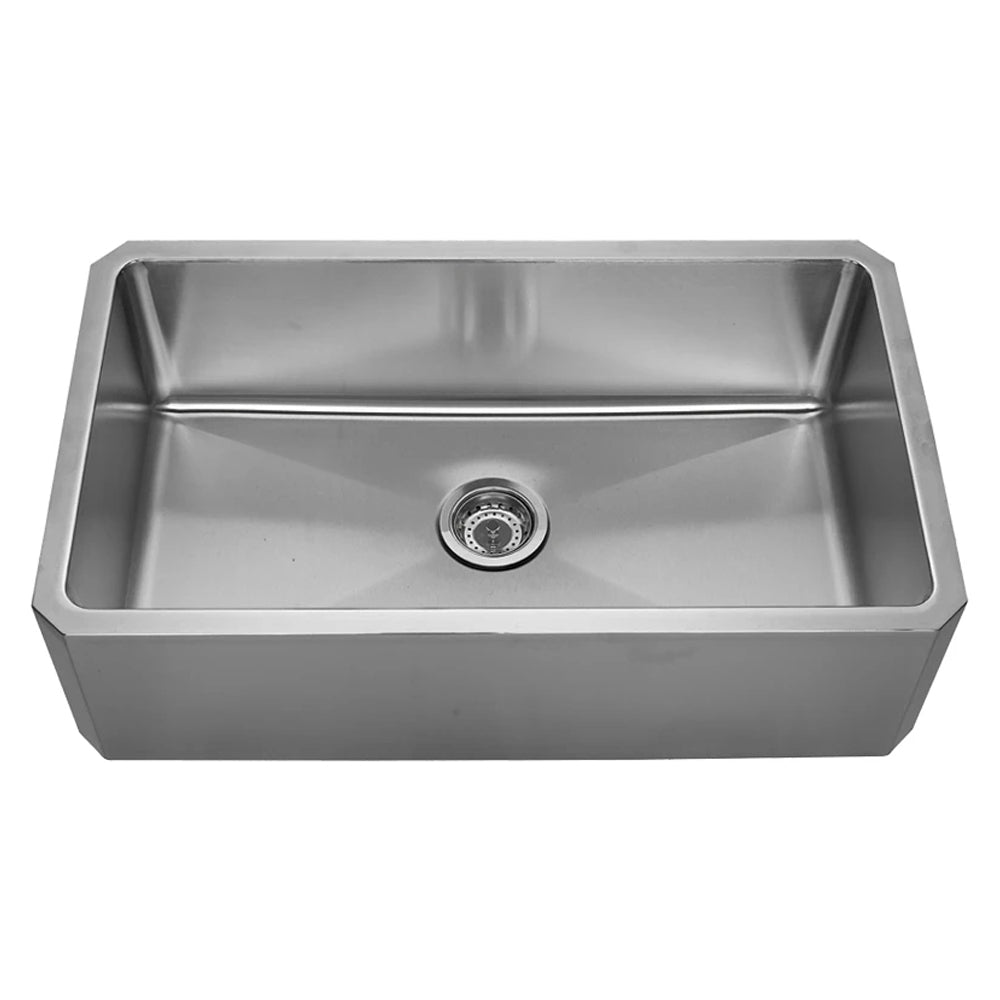 "Noah's Collection 31"" Brushed Stainless Steel Single Bowl Front Apron Undermount Sink"