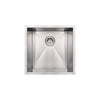 "19"" Noah's Collection Brushed stainless steel commercial single bowl undermount sink"