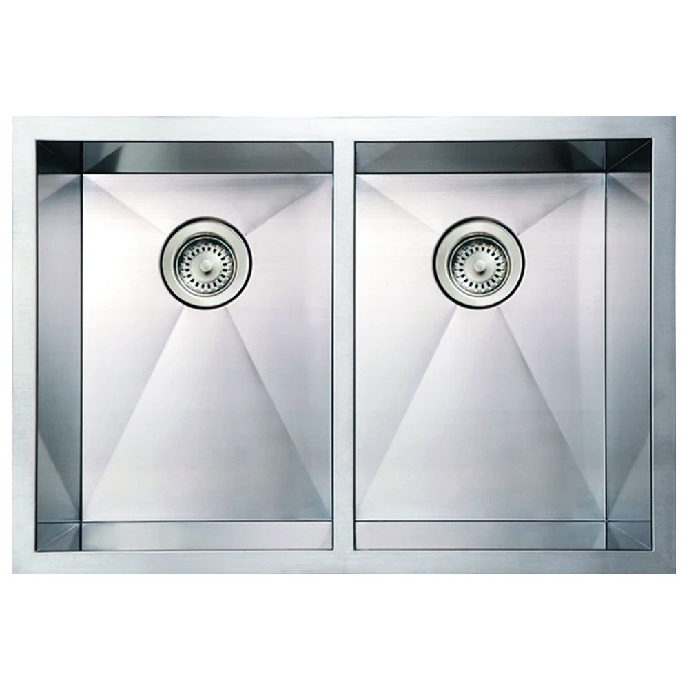 "30"" Stainless steel commercial double bowl undermount sink"
