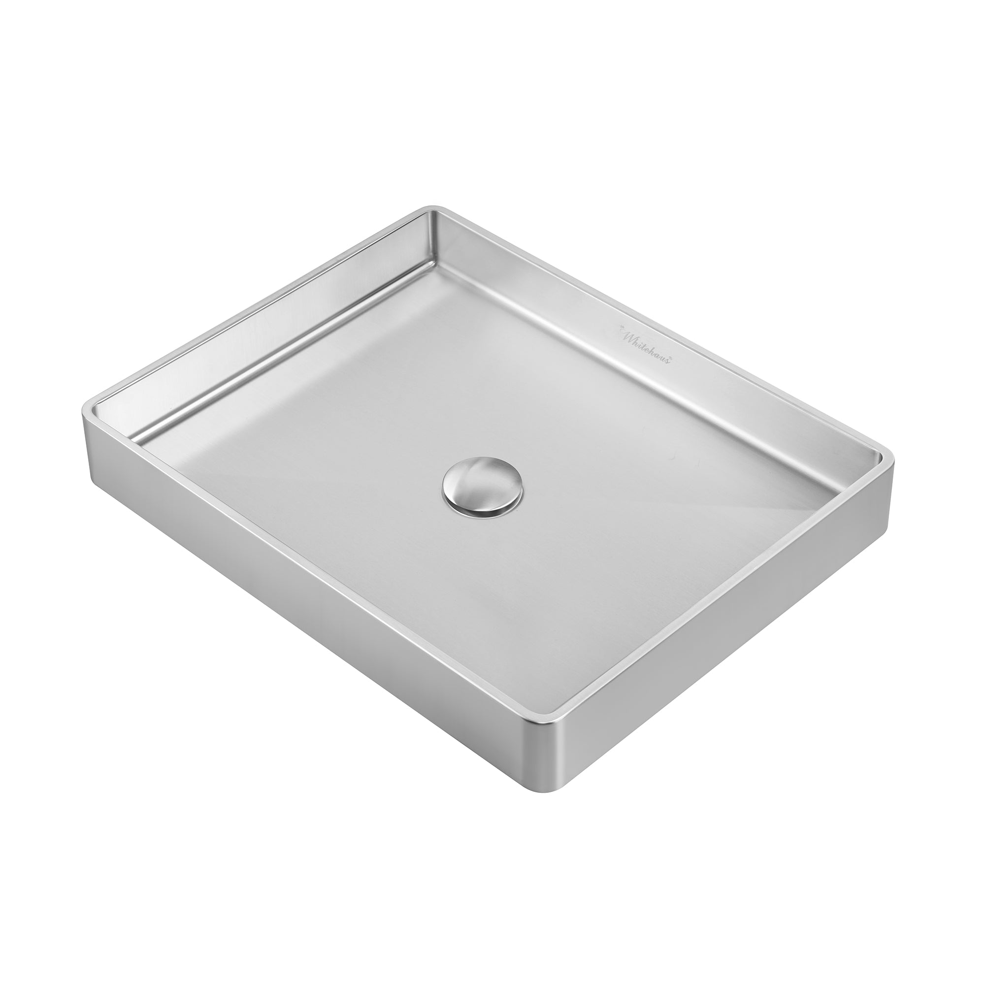 Noah Plus 18 gauge, rectangular above mount bath basin sSet