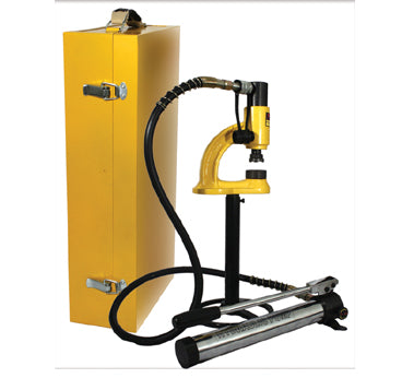 Hydraulic Manual Hole Punching Machine for use with Stainless Steel up to 1 1/2 mm Thick