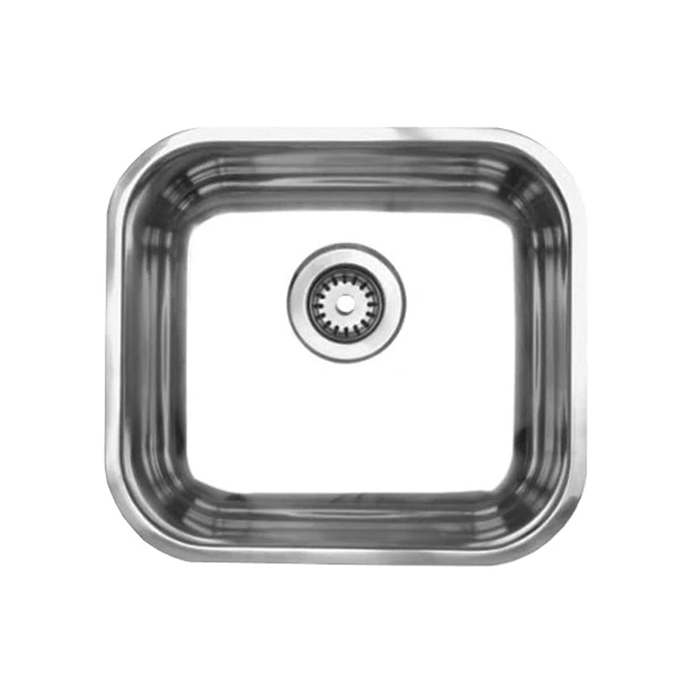 "Noah's Collection 15"" Brushed Stainless Steel Single Bowl Undermount Sink"
