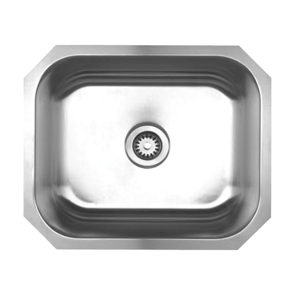 "Noah's Collection 22"" Brushed Stainless Steel Single Bowl Undermount Sink"