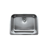 "Noah's Collection 25"" Brushed Stainless Steel Single Bowl Undermount Sink"