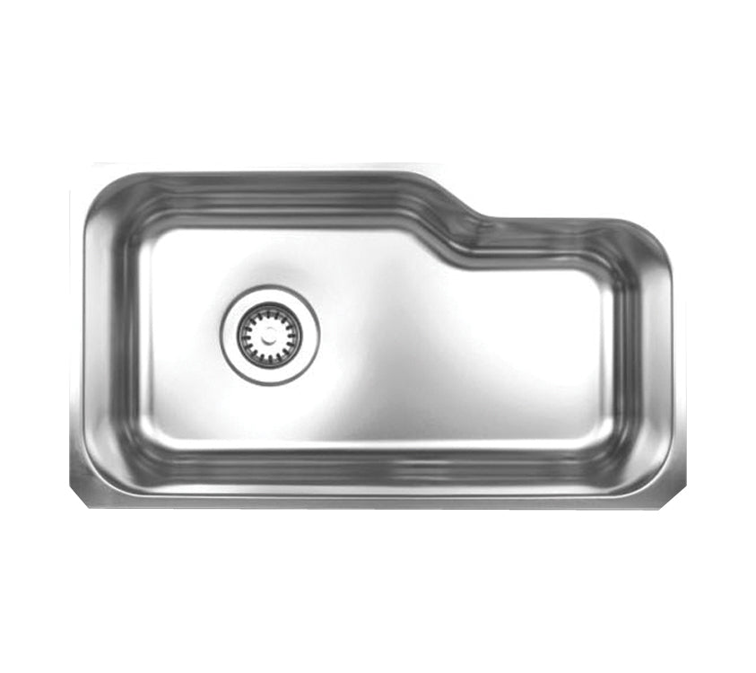 "Noah's Collection 32"" Brushed Stainless Steel Single Bowl Undermount Sink"