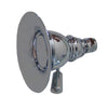 Showerhaus Small Round Rainfall Showerhead with Spray Holes - Solid Brass Construction with Adjustable Ball Joint