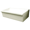 "Quatro Alcove 36"" large reversible fireclay sink with decorative 2½"" Lip"