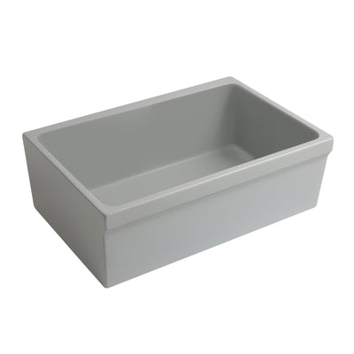 "Glencove 30"" Reversible fireclay kitchen sink with elegant beveled front apron"