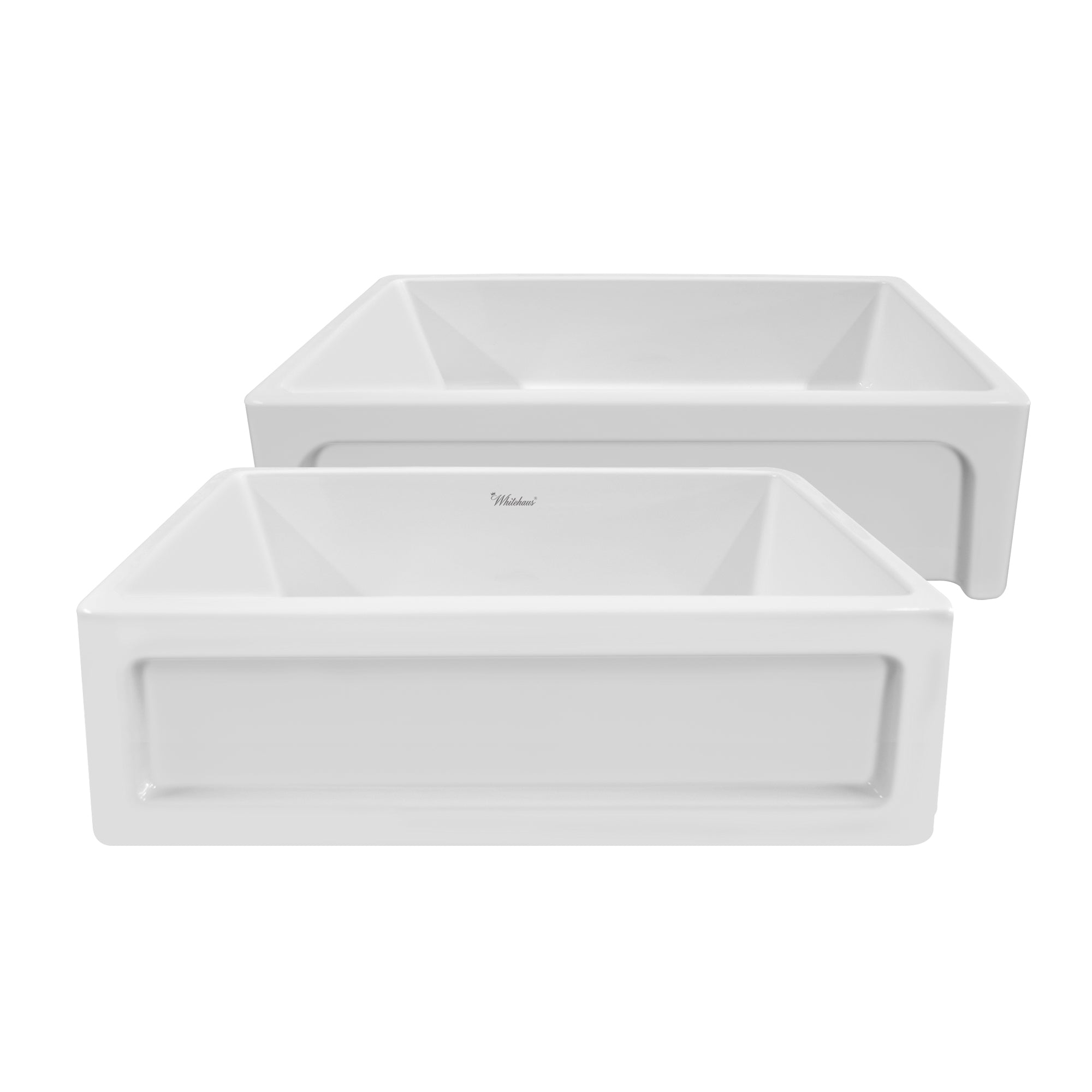 "Shakerhaus 33"" reversible fireclay kitchen sink"