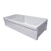 "Glencove 42"" large double bowl reversible fireclay sink with beveled front apron"