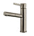Solid Stainless Steel, Single Hole, Single Lever Kitchen Faucet with Pull-out Spray Head