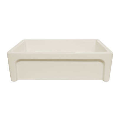 "St. Ives 33"" reversible fireclay kitchen sink with embossed vine design"