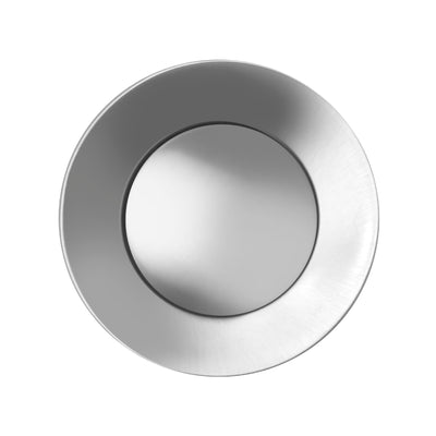 Solid Stainless Steel Pop-up Drain with Overflow
