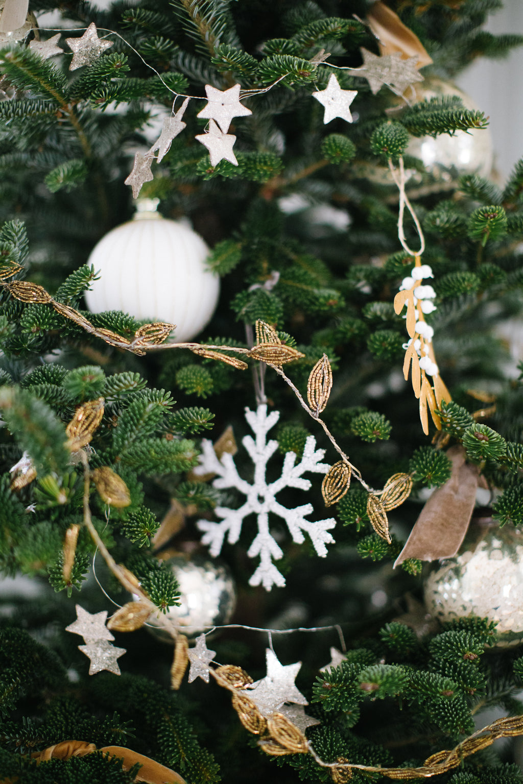 Metal & Glass Bead Garland