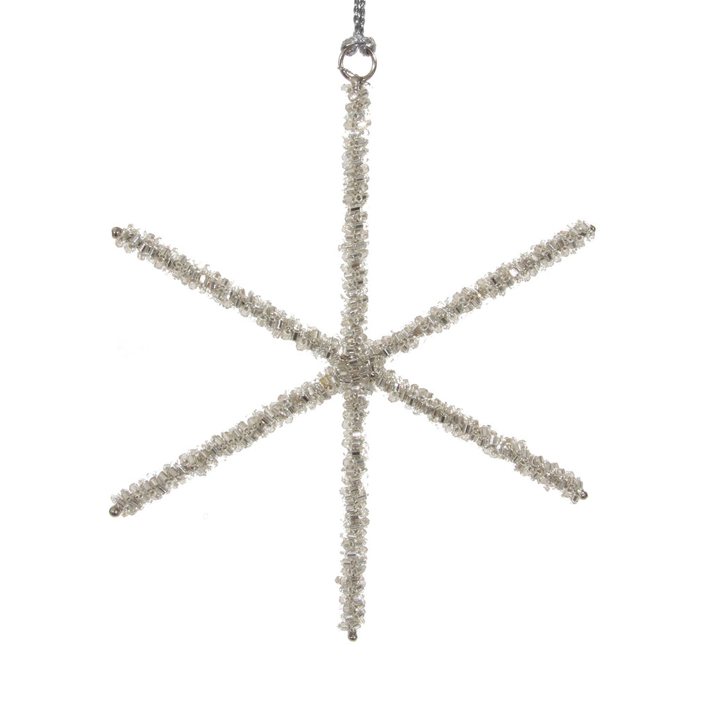 Bead Line Star Ornament