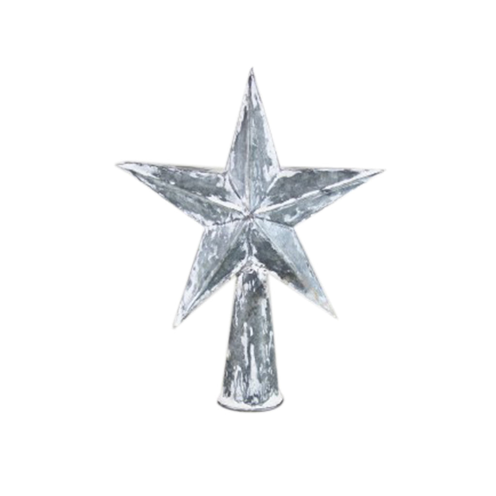 Galvanized Small Star Tree Topper