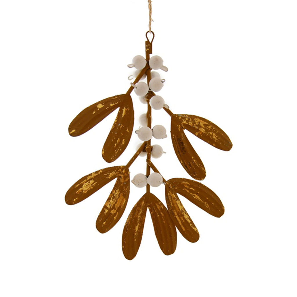 Gold Mistletoe Ornament